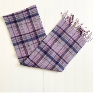 House of Scotland Purple Plaid 100%Lambswool Scarf